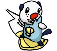 Pokémon-Fanart: Mijumaru(surfend)