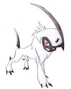 Pokémon-Zeichnung: Absol(Version 1)