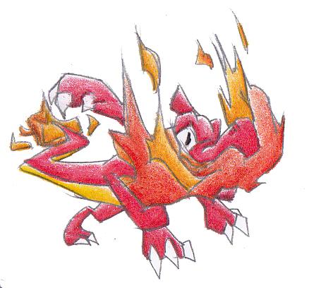 Pokémon-Zeichnung: 005 - Glutexo