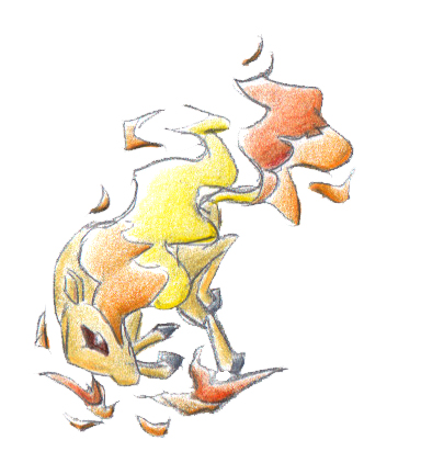 Pokémon-Zeichnung: 077 - Ponita