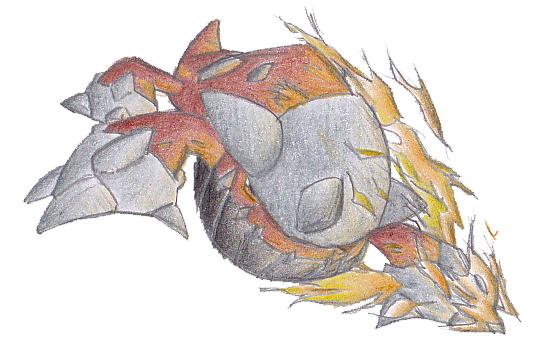 Pokémon-Zeichnung: Auftrag: Heatran