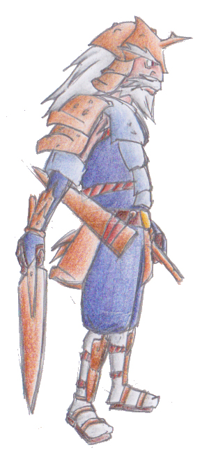 Pokémon-Zeichnung: Admurai - Gijinka