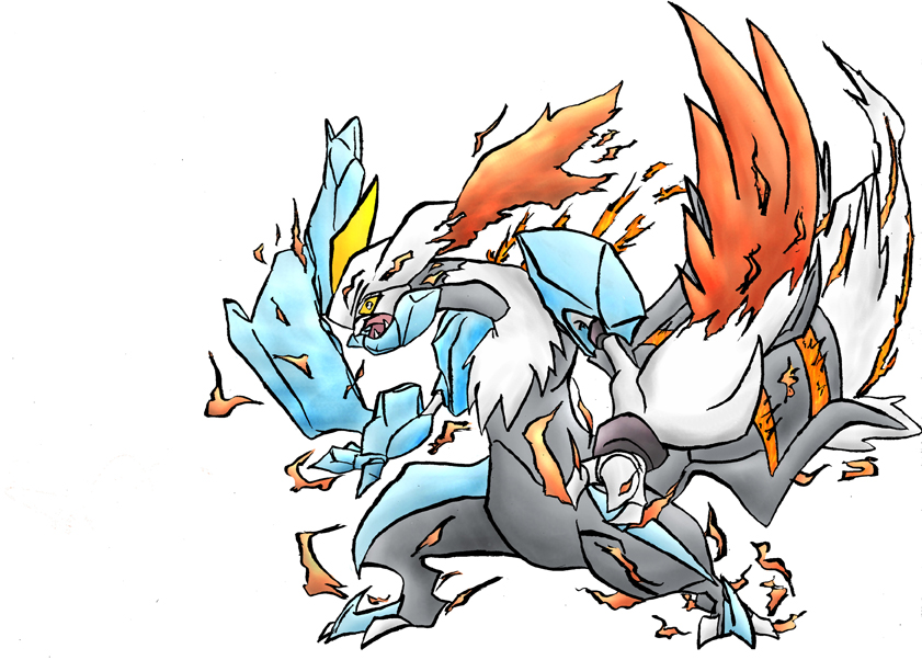 Pokémon-Zeichnung: Weißes Kyurem - Banner Art