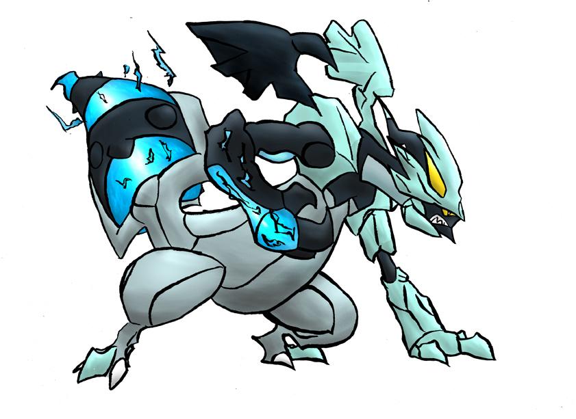 Pokémon-Zeichnung: Schwarzes Kyurem - Banner Art