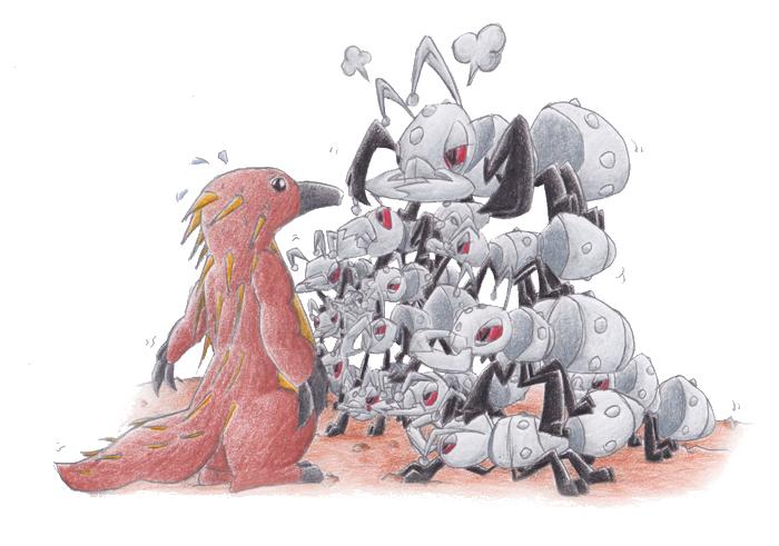Pokémon-Zeichnung: Tachygross