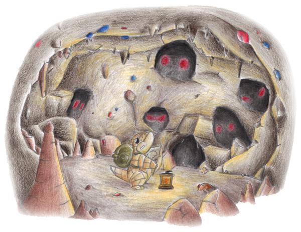Pokémon-Zeichnung: PMD: Sandan und Digda