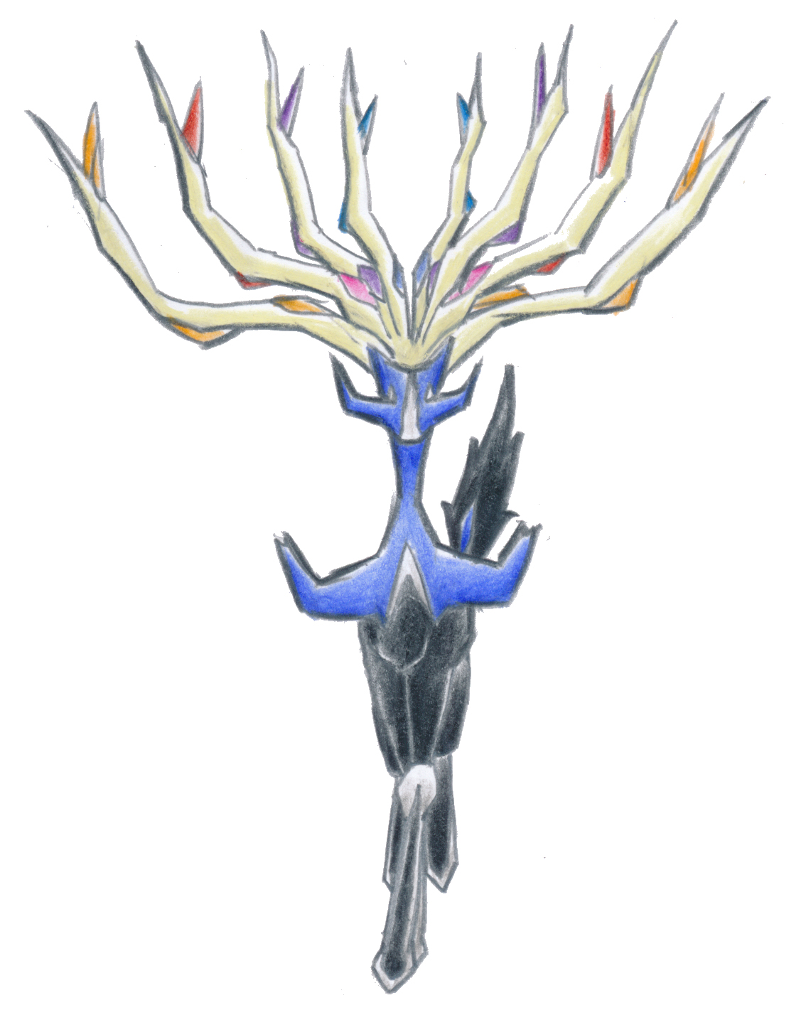 Pokémon-Zeichnung: Xerneas