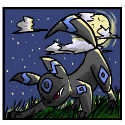 Pokémon-Zeichnung: Shiny Nachtara