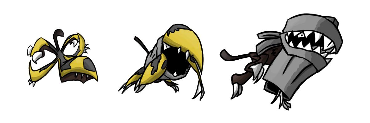 Pokémon-Zeichnung: Biold->Kippott->Schorott