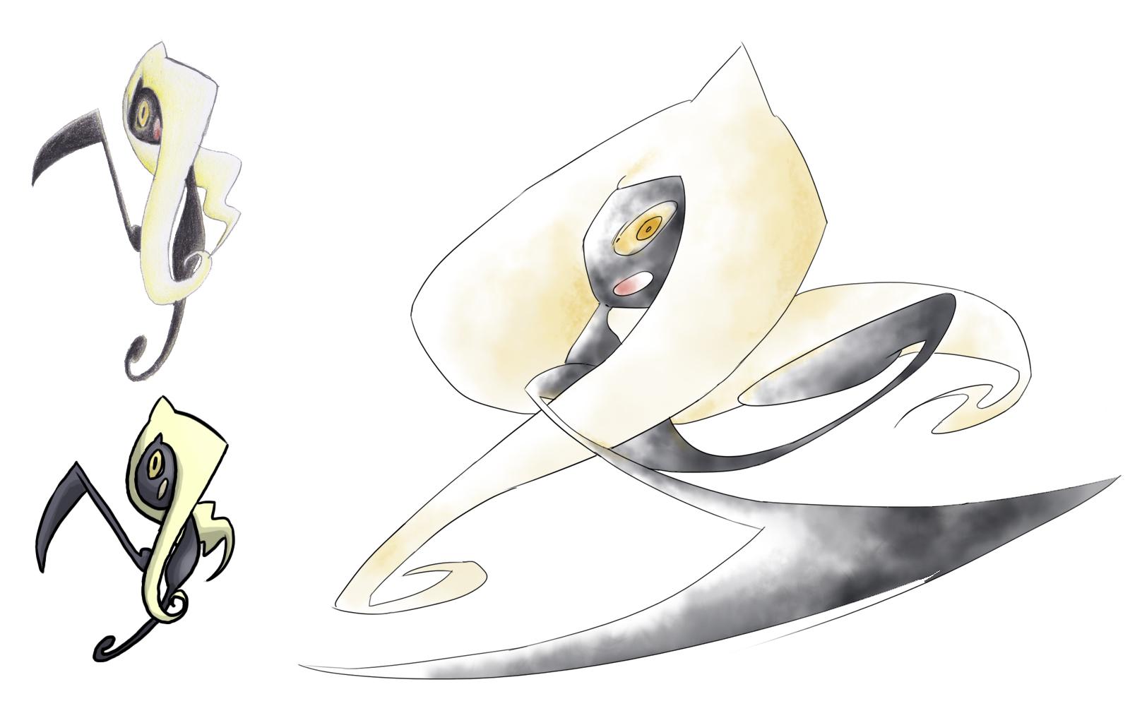Pokémon-Zeichnung: Ladidark - Geschichte eines Fakemon