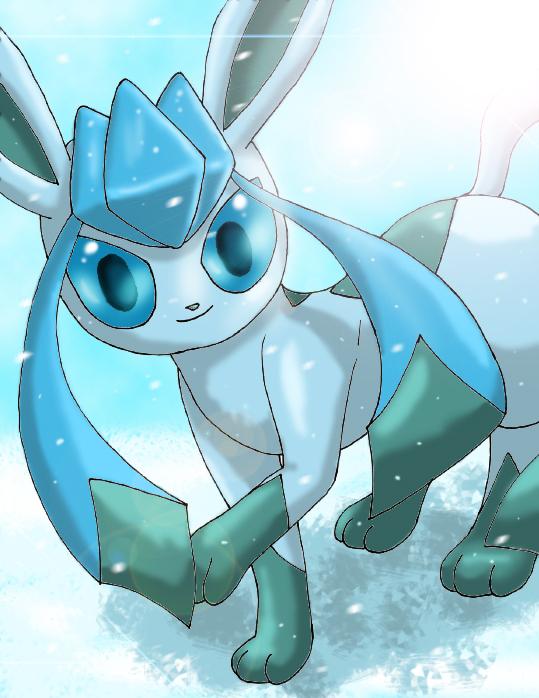 Pokémon-Zeichnung: Glaziola im Schnee