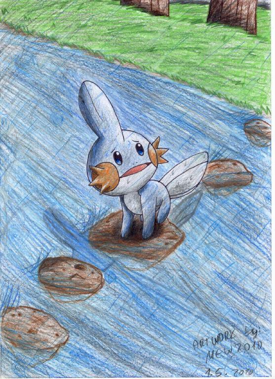 Pokémon-Zeichnung: Please don`t stop the rain...