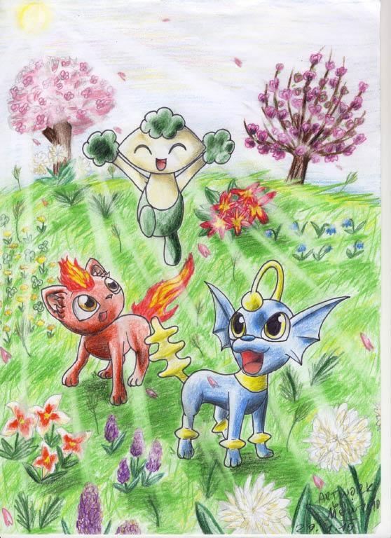 Pokémon-Zeichnung: Lovely Morning Sun
