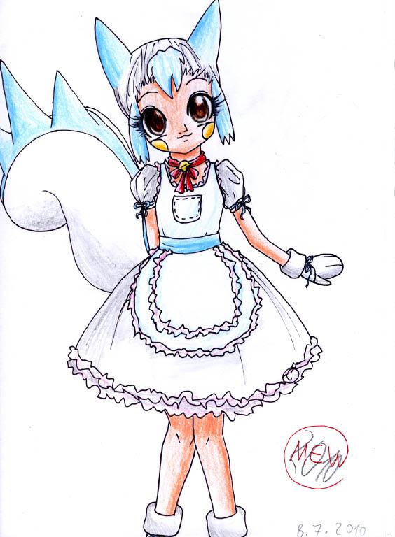 Pokémon-Zeichnung: Pachirisu-Girl