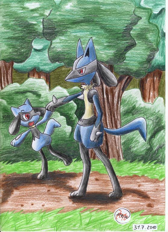 Pokémon-Zeichnung: Wie vater und sohn
