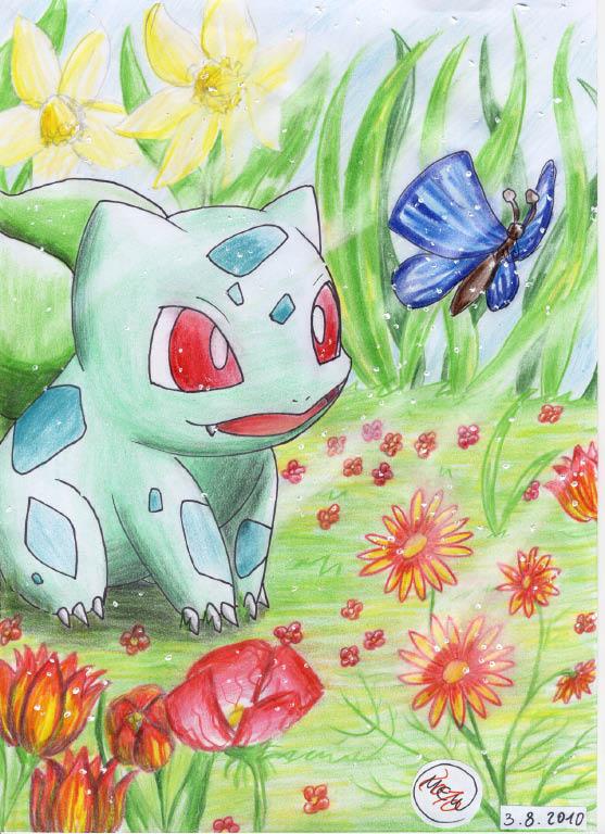 Pokémon-Zeichnung: Blütenzauber