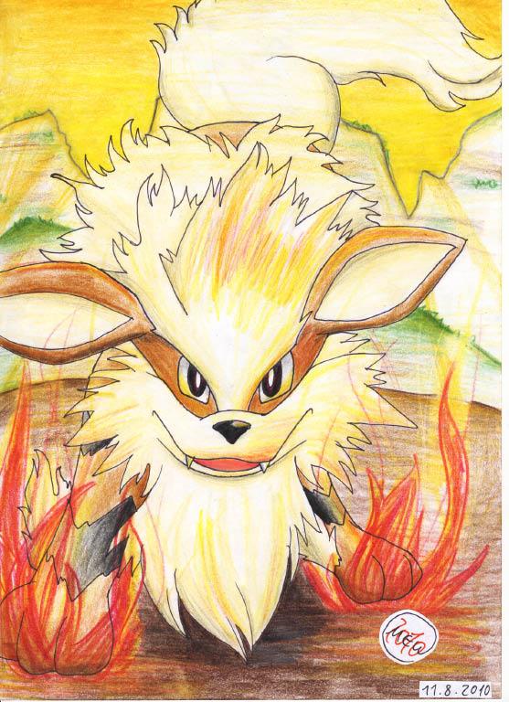 Pokémon-Zeichnung: Arkani