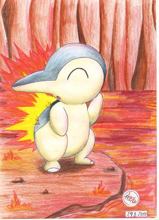 Pokémon-Zeichnung: Geheimer Lavasee