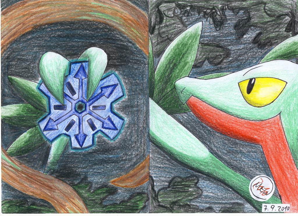 Pokémon-Zeichnung: Der Dieb der Zahnräder der Zeit