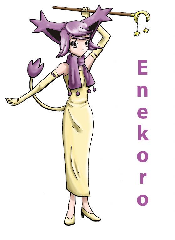 Pokémon-Zeichnung: Enekoro-Gijinka