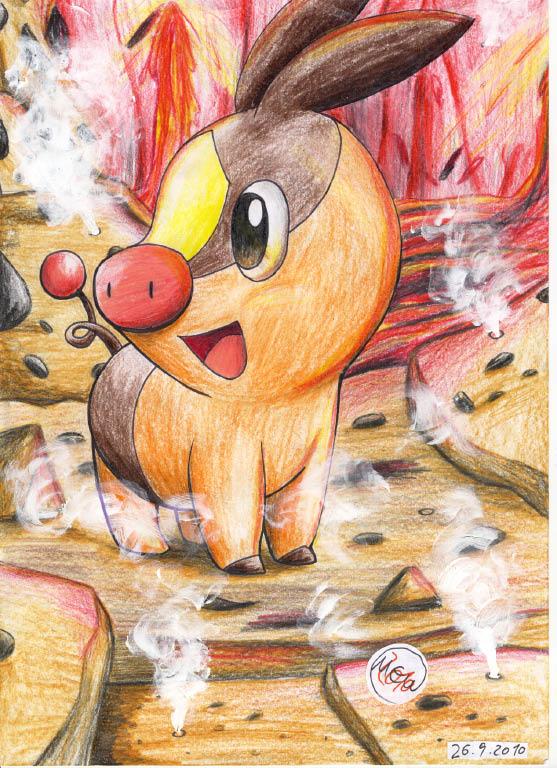 Pokémon-Zeichnung: Achtung, heiß!