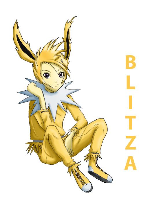 Pokémon-Zeichnung: Blitza-Gijinka