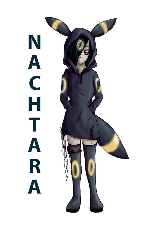 Pokémon-Zeichnung: Nachtara-Gijinka