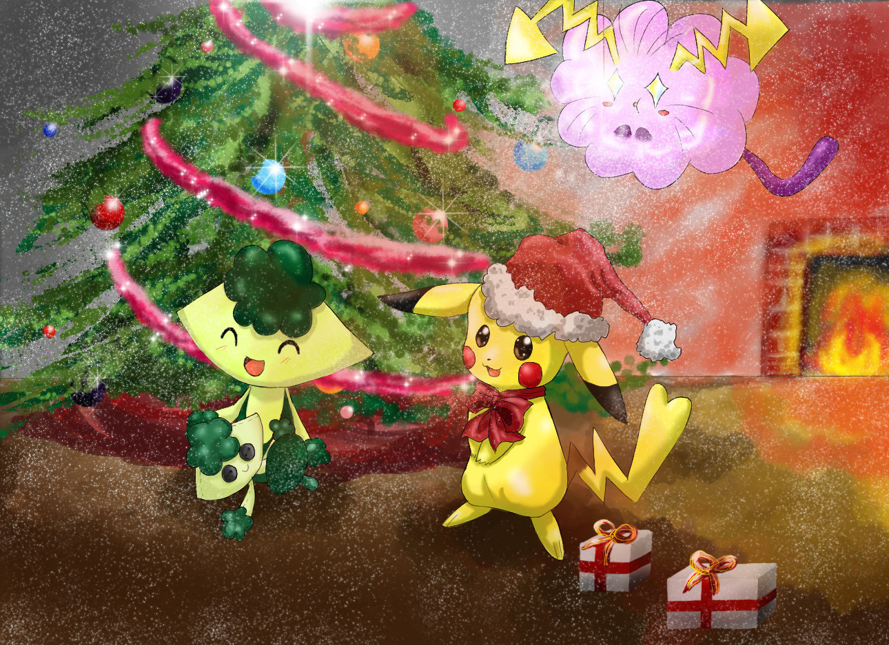 Pokémon-Zeichnung: Merry Christmas Everyone!
