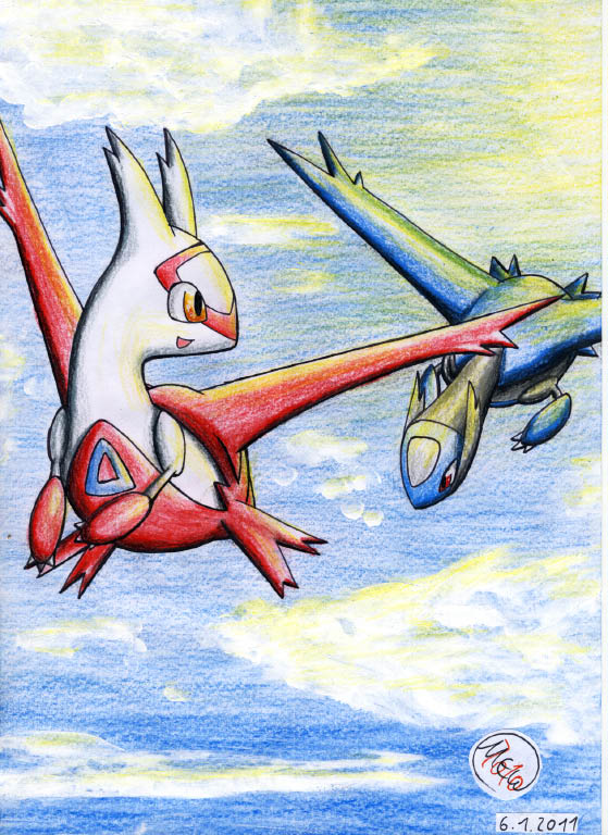 Pokémon-Zeichnung: First flight in the early morning