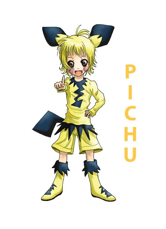 Pokémon-Zeichnung: Pichu-Gijinka