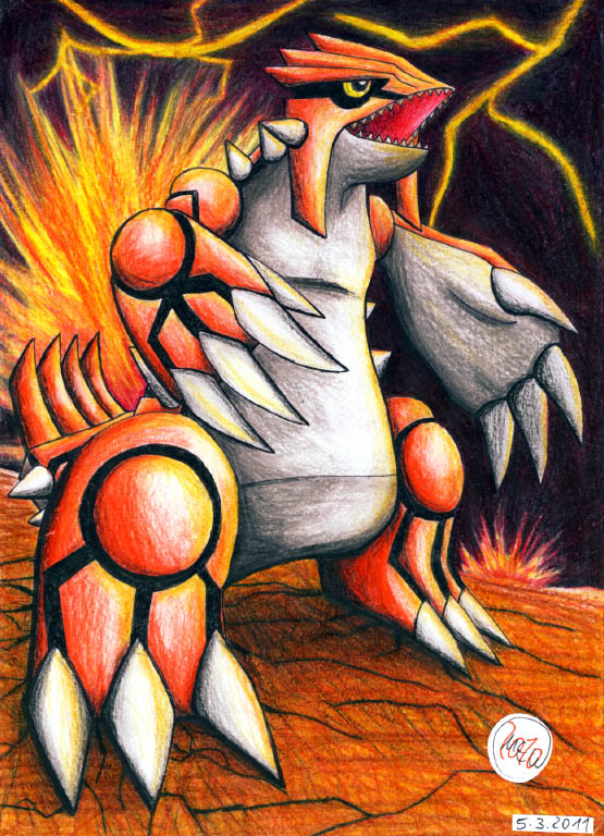 Pokémon-Zeichnung: Ruler of hell fire