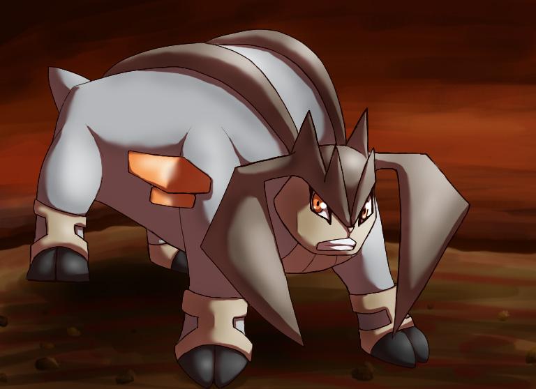 Pokémon-Zeichnung: Terrakion