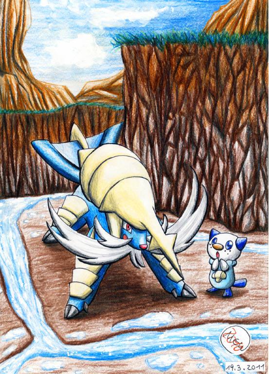 Pokémon-Zeichnung: So biiiig and strongg... o.o