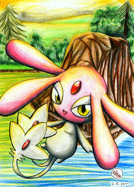 Pokémon-Zeichnung: Seenlegende Vesprit