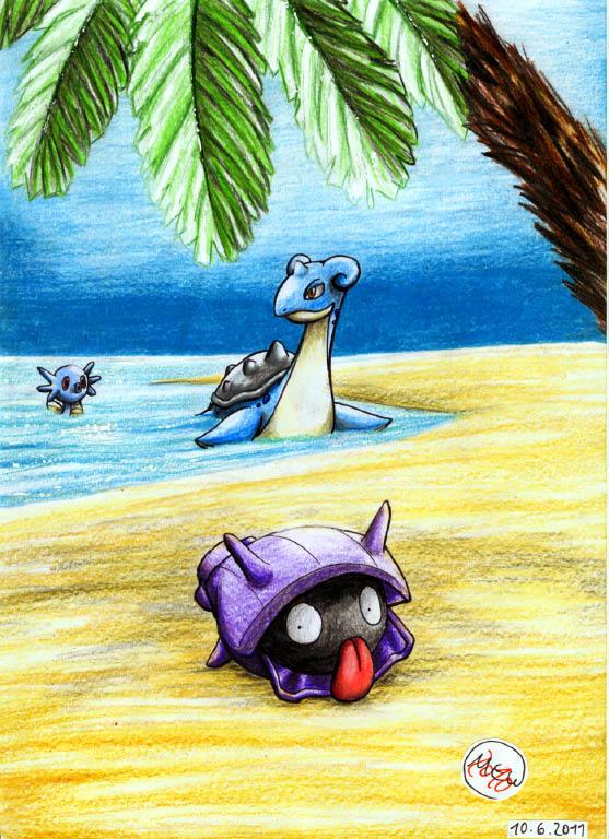 Pokémon-Zeichnung: Sunny Island