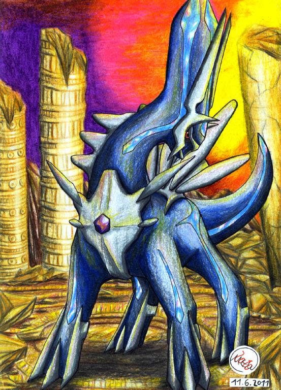 Pokémon-Zeichnung: Herrscher der Zeit