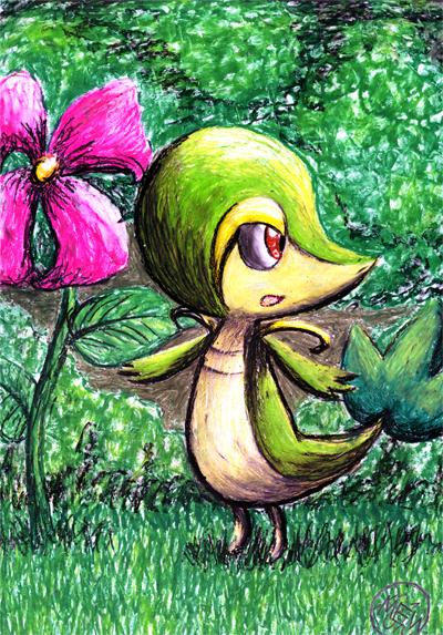 Pokémon-Zeichnung: Tsutarja~~
