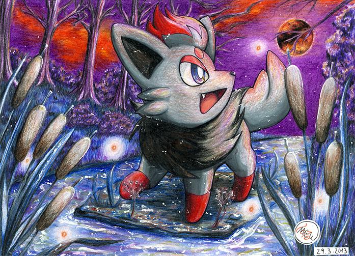 Pokémon-Zeichnung: Sparkling Night of Doom
