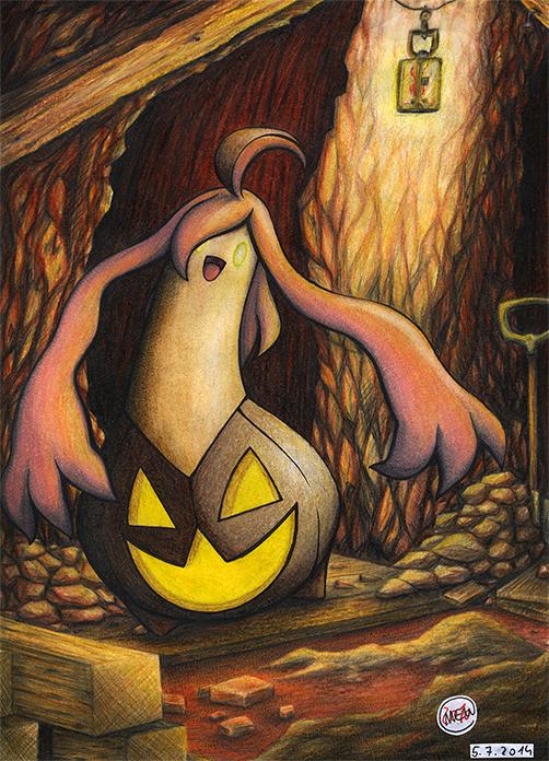 Pokémon-Zeichnung: Creepy Mine