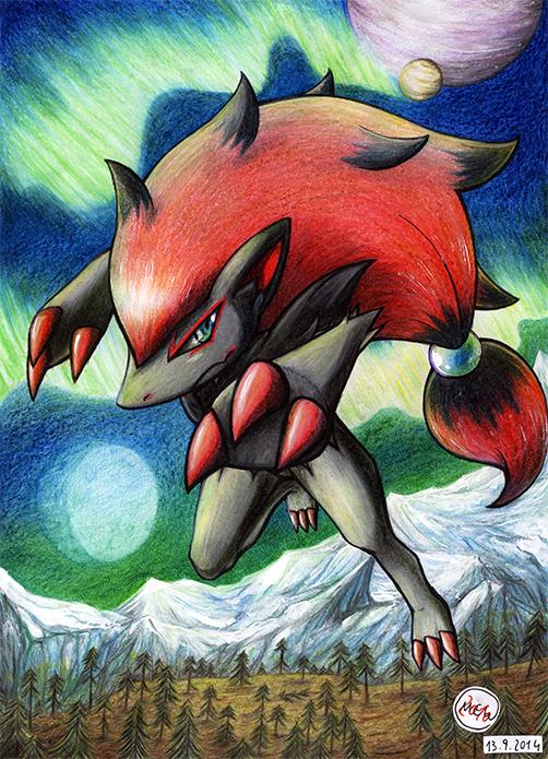 Pokémon-Zeichnung: Shining Ice