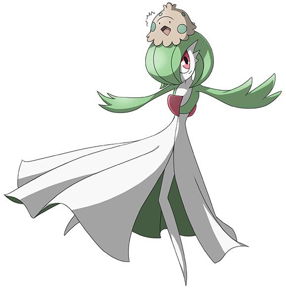 Pokémon-Zeichnung: Guardevoir und Knilz