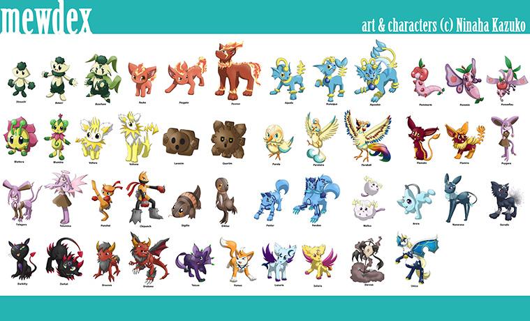 Pokémon-Zeichnung: Mewdex