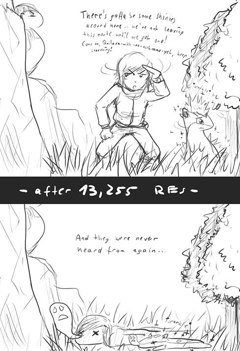 Pokémon-Zeichnung: Shiny Hunting à la moi