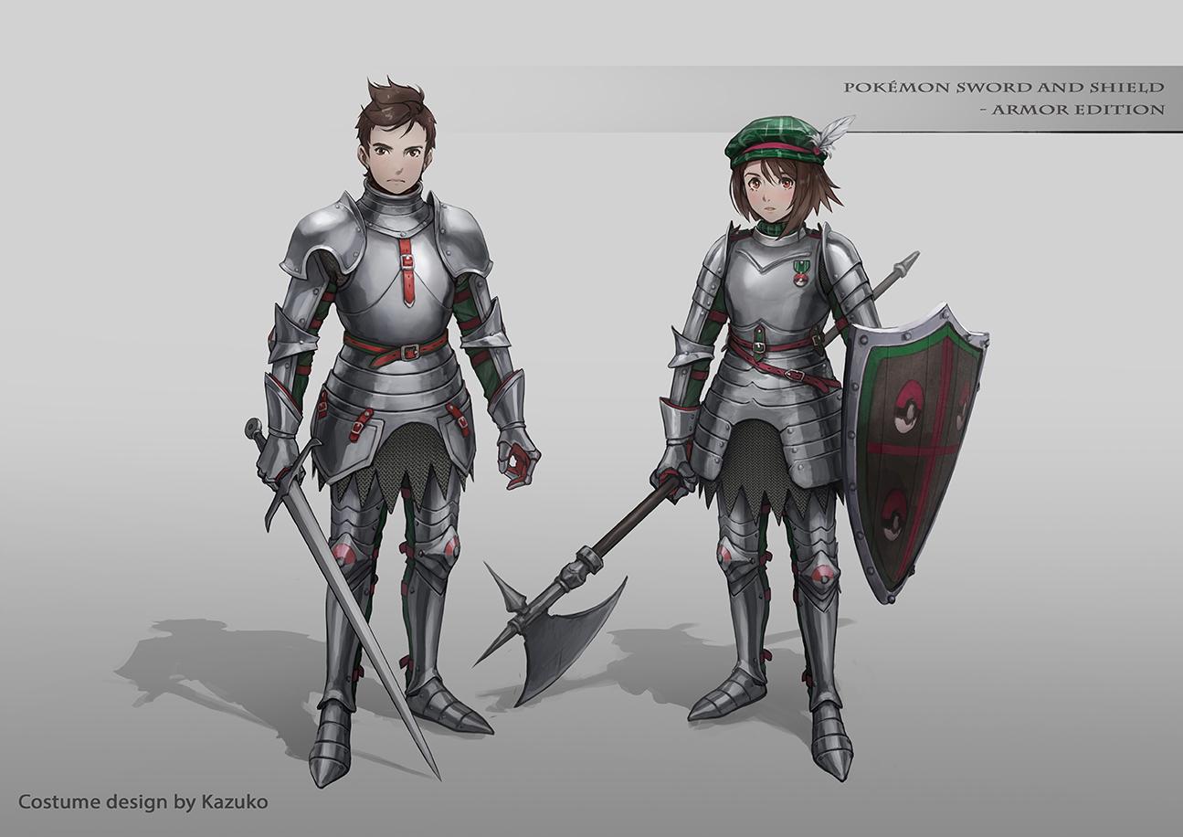 Pokémon-Zeichnung: Schwert und Schild