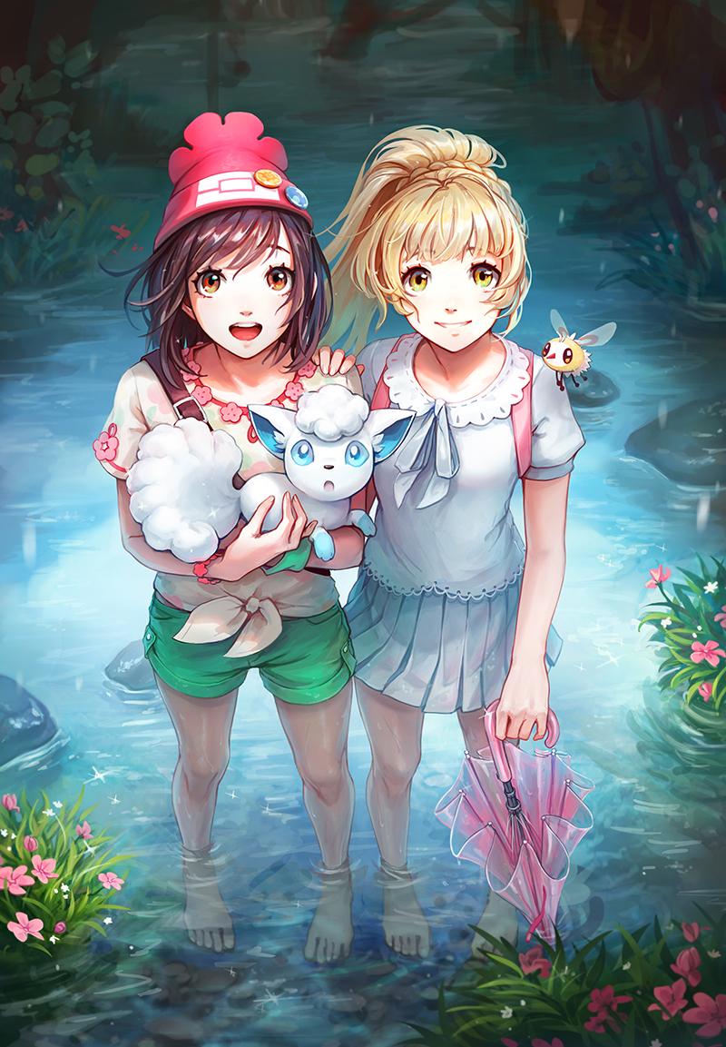 Pokémon-Zeichnung: Sommerregen