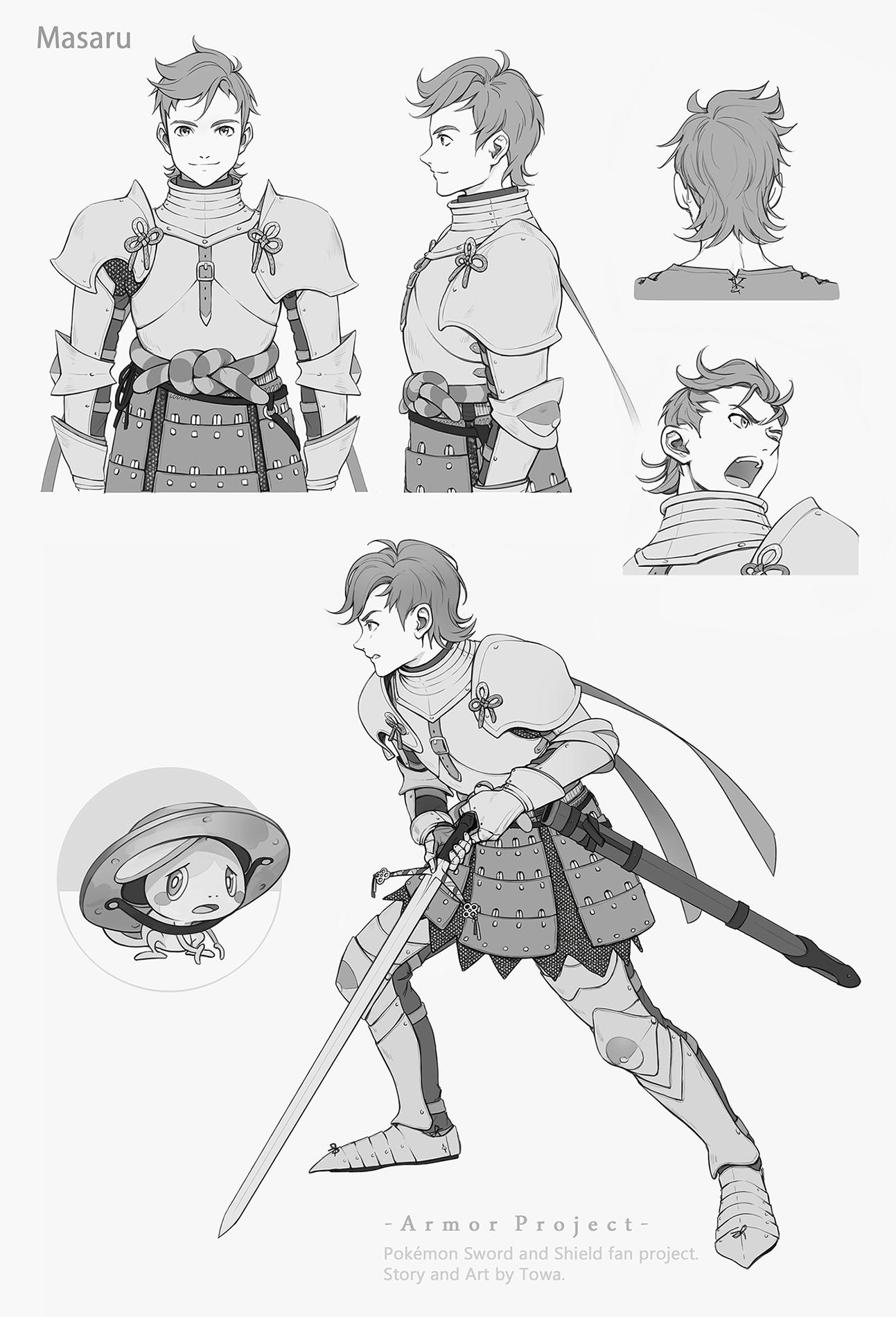 Pokémon-Zeichnung: Masaru (Armor Project)