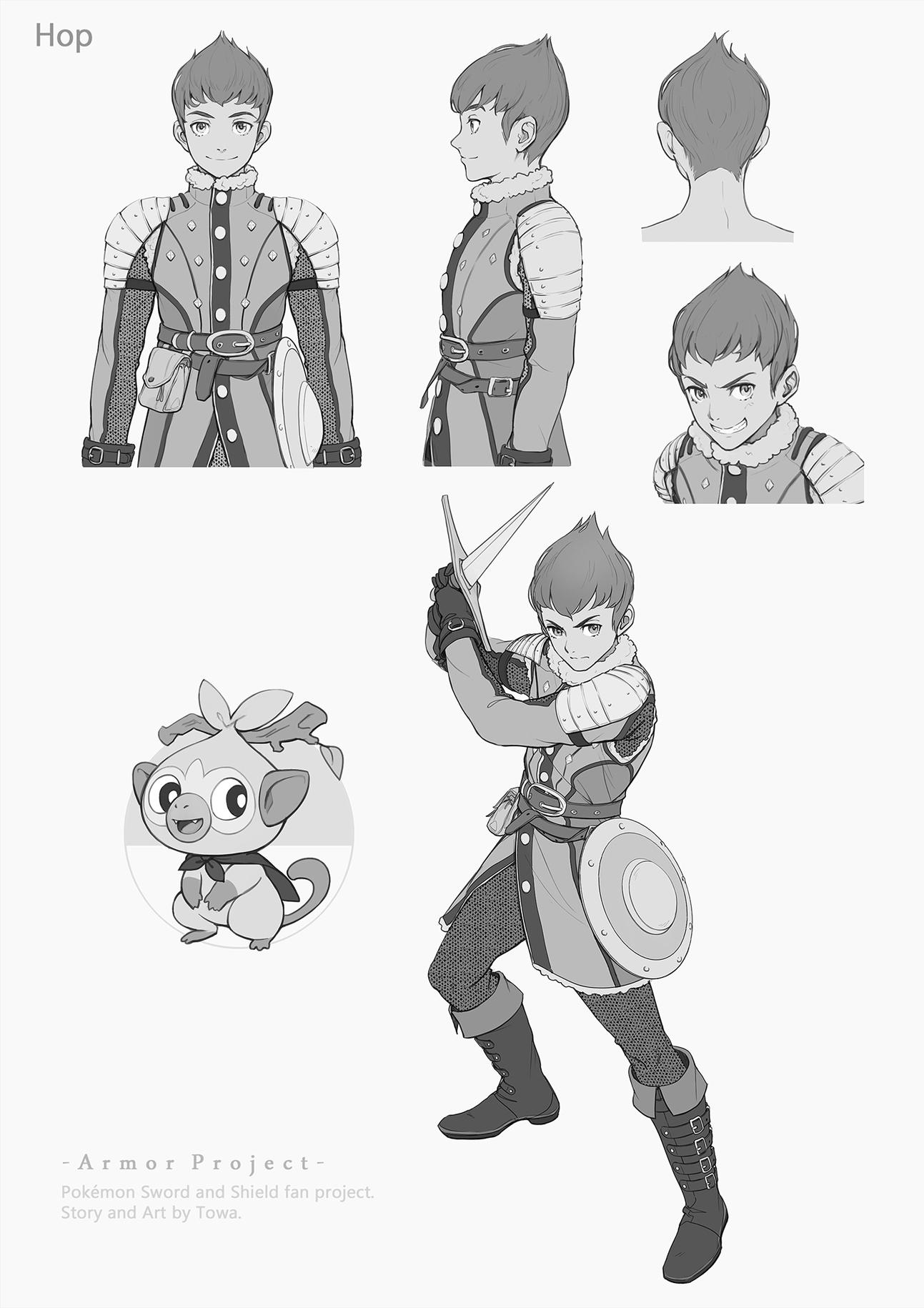 Pokémon-Zeichnung: Hop (Armor Project)