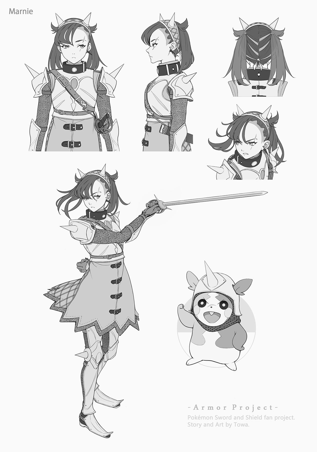 Pokémon-Zeichnung: Marnie (Armor Project)