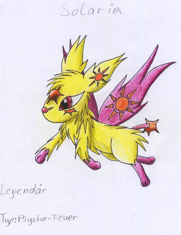 Pokémon-Zeichnung: solaria