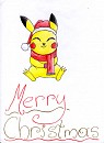 merry christmas pikachu^^